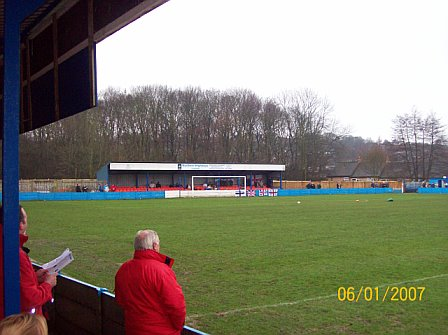 Behind Goal large stand