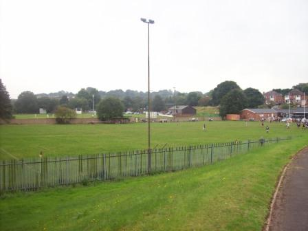 View from behind the goal - Newcastle Rugby & Cricket Clubs