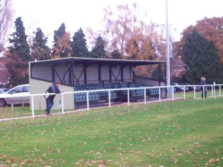 Main STand with car park behind