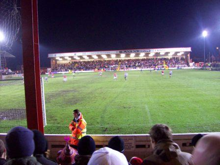 North Stand for home fans seen from away end