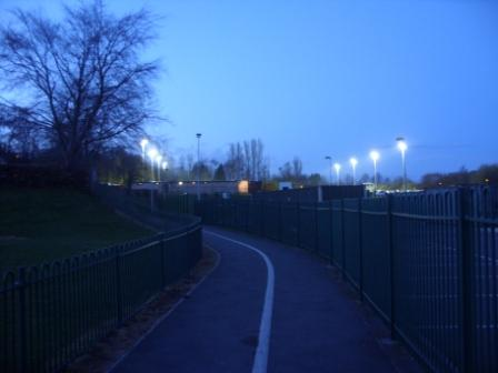Pathway to the ground from the street