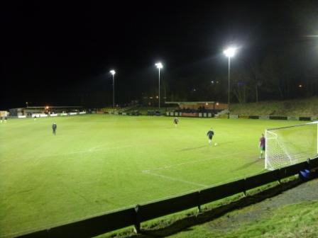 Ground seen from the woods behind the goal