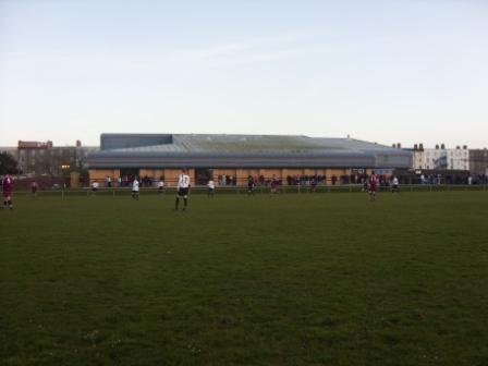 The Leisure Centre, the bank in front where most people stood