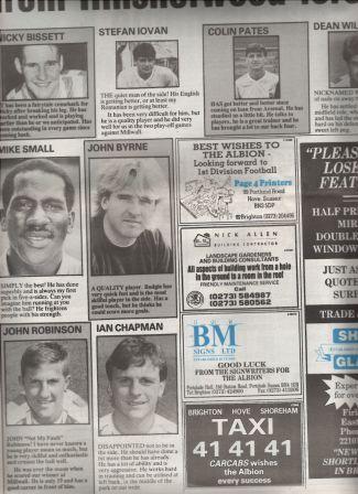 Albion Squad 1990-91 (2) comp