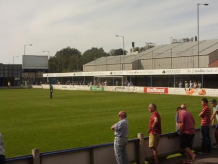 The Macclesfield Road end - a great atmosphere especially when Leek are 5-1 up
