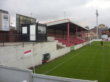 Main Stand and, left, wheelchair area