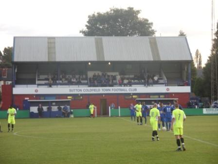 The second half kicks off under the main stand
