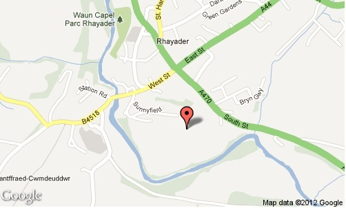 rhayader map
