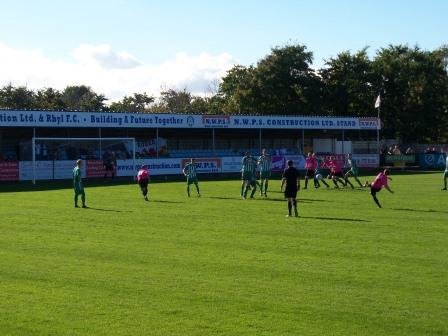 Action v Bodedern Athletic in the Welsh Cup Oct 2012 (7-0)