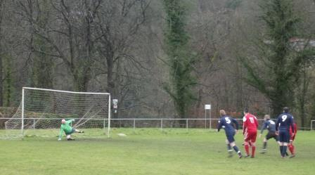 FC Nomads of Connah's Quay's opening goal from the spot
