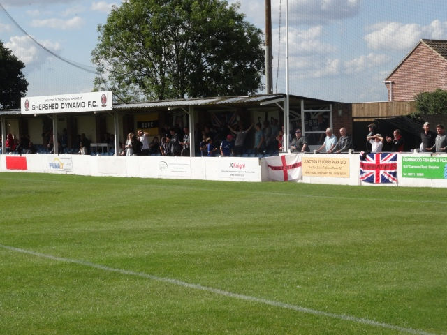 Shepshed fans celebrate their late winner