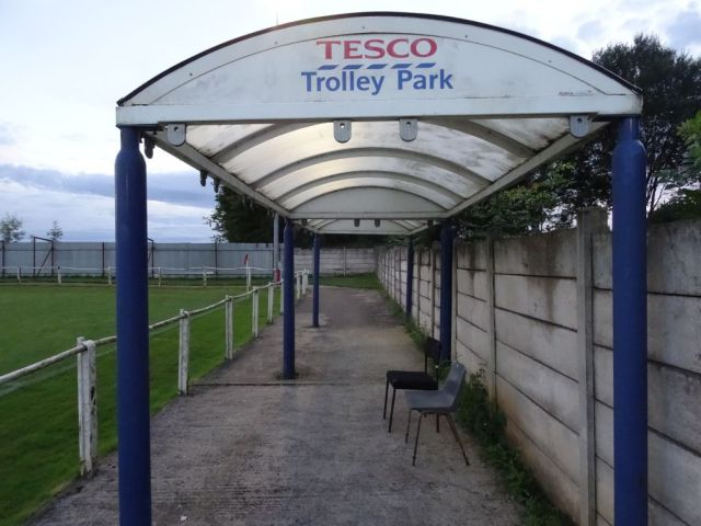 Teversal's two seater Tesco Trolley Stand