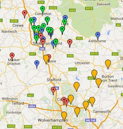 Staffs County map 2016-17