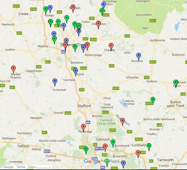 Staffs County map 2017-18