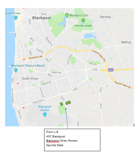squires gate map